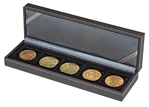 Lindner 2362-5 NERA Münzkassette S mit 5 quadratischen Feldern für Münzen oder Kapseln bis zu Ø 40 mm