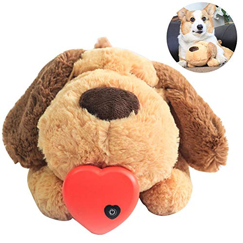 Juguete para perros de peluche Heartbeat Puppy Toy Puppy Alivio de la ansiedad Toy Dog Sleep Aid Toy Peluche Puppy Behavioral Training Aid Toy para perros inteligentes Gatos