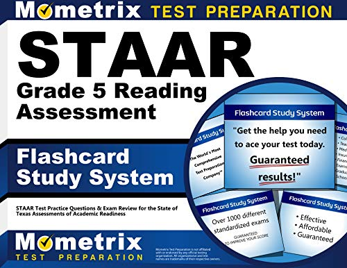 Staar Grade 5 Reading Assessment Flashcard Study System Staar Test Practice Questions Exam Review For The State