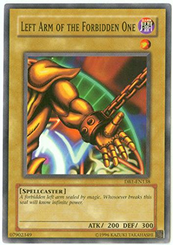 Yu-Gi-Oh! - Left Arm of The Forbidden One (DB1-EN138) - Dark Beginnings 1 - Unlimited Edition - Common