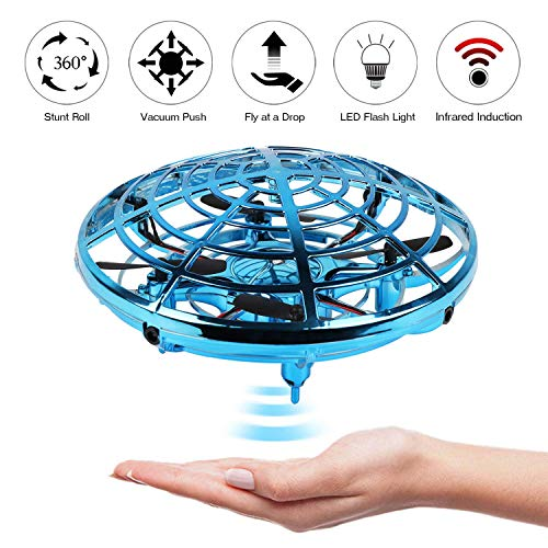 Mini Drone, LANIAKEA Flying Toy Hand Operated Drones for Kids or Adults-Scoot Hands Free UFO Helicopter, Easy Indoor Outdoor Flying Ball Drone Toys for Boys Girls,best for christmas present for kids