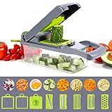 Vegetable Chopper, Multi-functional Onion Chopper, Veggie Chopper with 6 Stainless Steel Blades, 12...