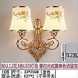 NZJSY Creativo Lámparas de Pared lámparas de pared Atmósfera europea lujo moderno minimalista dormitorio lámpara de noche sala de estar pasillo pasillo lámpara de pared de doble cristal - vino rojo