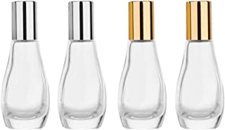 Beaupretty 6pcs Clear Glass Roll on Bottles Refillable Essential Oil Perfume Rollerball Bottles Container