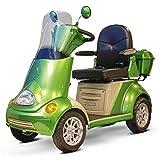 E-Wheels EW-52 4-Wheel Mobility Scooter, Heavy Duty 700 Watt Motor, 500 lbs Capacity, Ships Fully Assembled,  Green