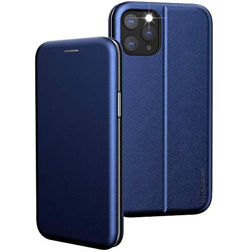 BYONDCASE iPhone 12 und 12 Pro Handyhülle Blau [Premium iPhone 12 PU Leder Flip-Hülle Klapphülle] mit Kartenfach, Magnetverschluss, Standfunktion fürs Apple iPhone 12 und 12 Pro