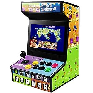 """Arcade Spielautomat, Retro Arcade Spielmaschine mit 10,1"""" LCD Farb Display,eingebautem Lautsprecher und 88 Videospiele, unterstützen Down-Spiele für SNES / GBA / SEGA / NES / PS / DC / MAME"""