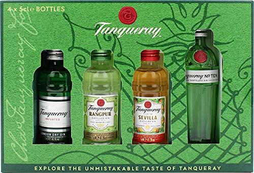 Tanqueray Exploration Pack mit Tanqueray London Dry Gin, Tanqueray No. Ten, Tanqueray Flor de Sevilla und Tanqueray Rangpur Gin (1 x 0.2 l)