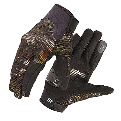 Pokem&Hent Guantes de ciclismo transpirable motocicleta motocicleta Racing guantes Road Street Ciclismo guantes camuflaje verde XL
