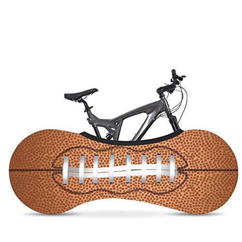 AGQH Cubierta de la Bici para Guardar, Patrón de impresión de Rugby, Interior Funda Universal para Ruedas de Bicicleta Mantiene limpios los Suelos y Las Paredes de su casa