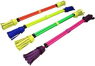 Juggle Dream Neo Fibreglass Flower Devilstick & Fibreglass Hand Control Sticks (Green/Yellow)