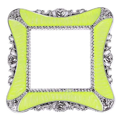 Fueerton - Pegatinas de pared para interruptor de casa, diseño cuadrado, plástico, verde fluorescente, 8.6cm x 8.6cm