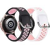 KIMILAR [2 Piezas Correa Compatible con Samsung Galaxy Watch 3 41mm/Watch Active/Active 2 (40mm/44mm)/Watch 42mm Correa de Silicona, Correa Deportiva Compatible con Garmin Vivoactive 3/Vivomove