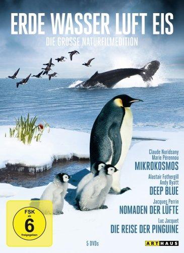 Erde, Wasser, Luft, Eis - Die große Naturfilm Edition (5 DVDs, Sonderkonfektionierung)Mikrokosmos-Deep Blue-Nomaden der Lüfte-Die Reise der Pinguine-Die Welt des Luc Jacquet