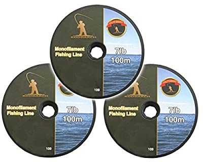 3 x 100m Fishing Line. Coarse, Sea, Game or Boat Angling. Choose 7lb or 15lb Line Strength. by Roddarch