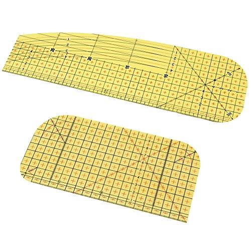 Regla de Planchado 2 Piezas Regla Planchado en Caliente Patchwork Regla Medición para Suministros de Costura de Bricolaje Sastrería Planchado Costura Elaboración