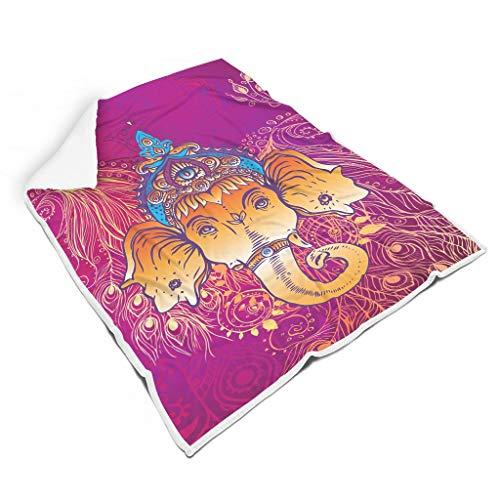 RQPPY Elephant Tagesdecke Decke Comfort Microfaser Plush Polyester für Erwachsene und Kinder Decke White 150x200cm
