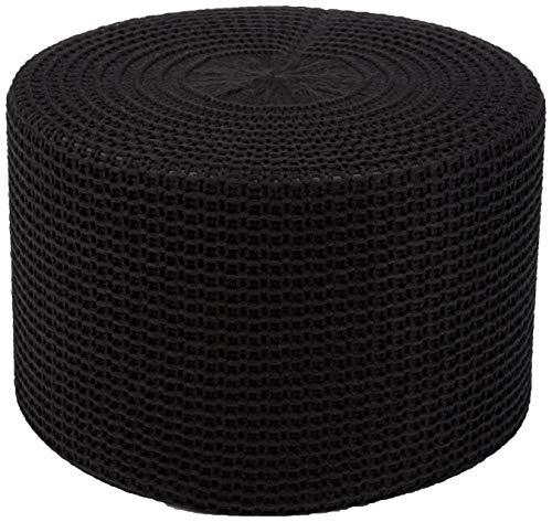 AmazonBasics Knit Foam Floor Pouf Ottoman, Black