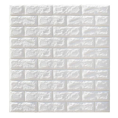 Vosarea Pegatinas de pared de ladrillo autoadhesivas papel tapiz de panel para paredes de tv decoración de la pared del hogar