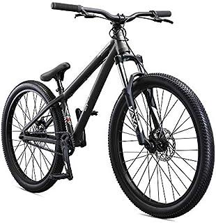 Mongoose Fireball Dirt Jump Mountain Bike, 26-Inch Wheels, Mechanical Disc Brakes, Grey