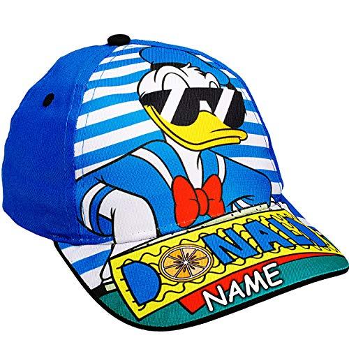 alles-meine.de GmbH Basecap - Disney - Mickey Mouse / Donald Duck - inkl. Name - Größe 3 bis 12 Jahre - universal & verstellbar - 100 % Baumwolle - für Mädchen & Jungen - Kinder ..
