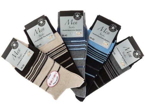SOUNON 10 Paar Herren Socken ohne Gummi (6504), Groesse: 43-46