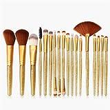 WDLSWDY Sintético Premium Maquillaje Maquillaje Fundación Conjunto Completo de Belleza del Sistema de Cepillo Profesional Principiante 15 Pcs Fundación líquida BB Cream Sombra de Ojos Cepillo Paquete