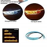 Car-Dec Car Led Strip for Headlight White Daytime Running Light, Turn Signal Yellow/Amber Indicator...