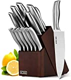 HOBO Knife Set, 14-Piece Kitchen Knife Set with Block Wooden, Self Sharpening for Chef Knife Set with High Grade Polished Stainless Steel, Japan Stainless Steel, Boxed Knife Sets Dishwasher Safe
