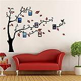 Árbol Pegatinas de Pared - 3D Árbol Marco de Fotos DIY Etiqueta Murales Decoración para Salón, Dormitorio, Oficina, Habitación para Niños(M: 150 * 210CM,7 Rojo Derecha)