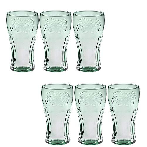 Juego de 12 vasos de Coca Cola Vasos para beber de vidrio Vasos para beber Vasos para beber Vasos para jugo Vaso de agua 300ml