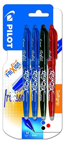 Pilot Spain Frixion Ball - Bolígrafo borrable, 4 unidades, multicolor