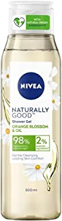 Nivea Naturally Good Body Wash, Orange Blossom & Oil Shower Gel, No Parabens, Vegan Formula, 98% Natural Origin Ingredient...