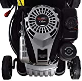 Self-Propelled Petrol Lawnmower 132cc 2.5KW OHV 4-Strokes 400mm cutting width with mulching function.