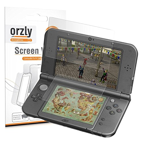 ORZLY® 3DSXL DisplaySchutzfolien, Multipackung mit 6 Schutzfolien für 3DS XL oder New 3DS XL (3 pro Bildschirm)
