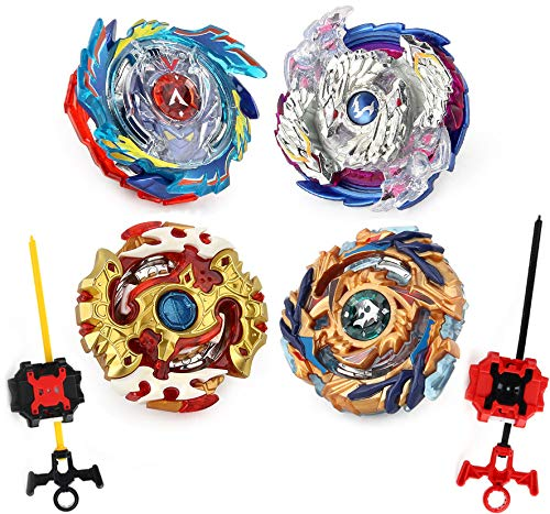 Elfnico Bey Battle Gyro Burst Battle Evolution Metal Fusion Attack Set with 4D Launcher Grip and Arena