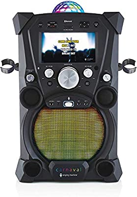 Singing Machine The Carnaval Portable Hi-Def Karaoke System SDL9035 with Free (2) Wired Microphones, Black Finish (Refurbished)