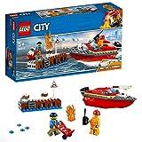 LEGO City - L'incendie sur le quai - 60213 - Jeu de construction