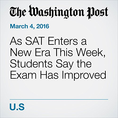 As SAT Enters a New Era This Week, Students Say the Exam Has Improved cover art