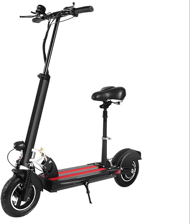MKKYDFDJ LCD,Viajero Ligero Y Portátil E-Bicicleta,Plegable E-Scooter con Asiento Desmontable,Tres-Velocidad Ajustable,Control Remoto Patinete Eléctrico