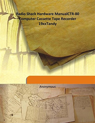 Radio Shack Hardware ManualCTR-80 Computer Cassette Tape Recorder 19xxTandy