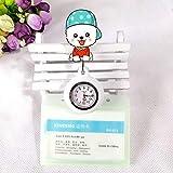 Cxypeng Reloj de Bolsillo Enfermera,Linda Mesa de Enfermera retráctil de Silicona, Tarjeta de Trabajo de Reloj de Bolsillo médico Set-X,Reloj médico para enfermería