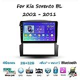Android Car Stereo Radio Double DIN Sat Nav para Kia Sorento BL 2002-2011 Navegación GPS...