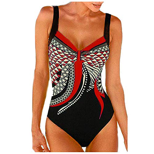 HOSD Einteiliger Badeanzug mit sexy Bikinidruck
