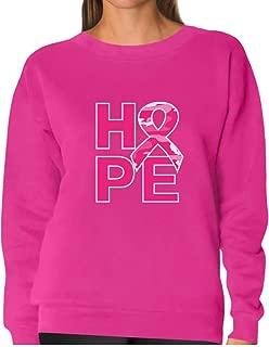 TeeStars - Hope Camo Pink Ribbon Breast Cancer Awareness Women Sweatshirt