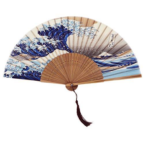 DawningView Japanese Handheld Folding Fan, with Traditional Japanese Ukiyo-e Art Prints (Great...