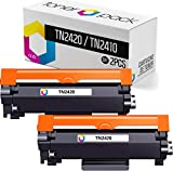 TONERPACK 2 Tóner para Brother TN2420 (con Chip), Cartuchos de Tóner Compatibles TN-2420 para Brother DCP L2510D L2530DW L2550DN HL L2310D L2350DW L2370DN L2375DW MFC L2710DN L2710DW L2730DW (Pack 2)