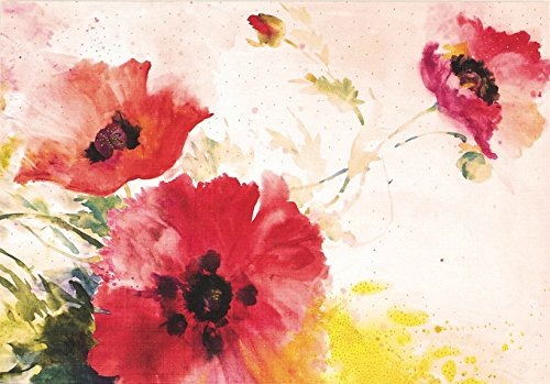 Watercolor Poppies Note Cards