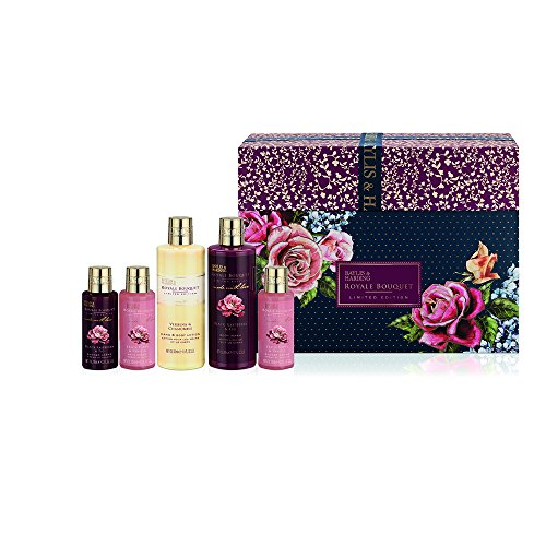 Baylis & Harding Royale Bouquet Blue Large Box Ensemble cadeau, 5 pièces