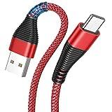 USB C Kabel [3 Stück 0.5M+1.2M+2M ] USB Typ C Ladekabel Samsung S10/9/8 Note 9/8 Ladekabel für...